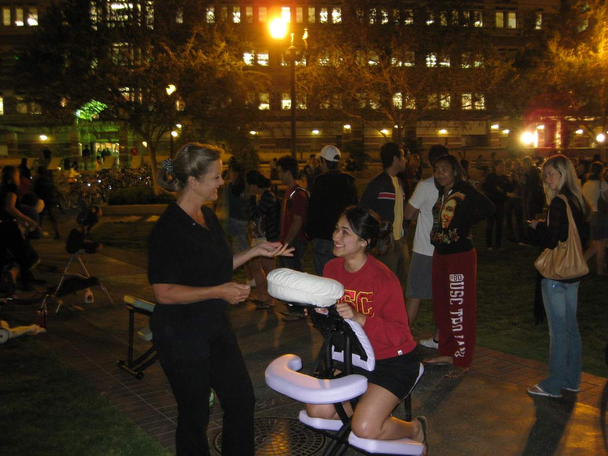 Body Charge helping students chill out for USC Final Exams 2008