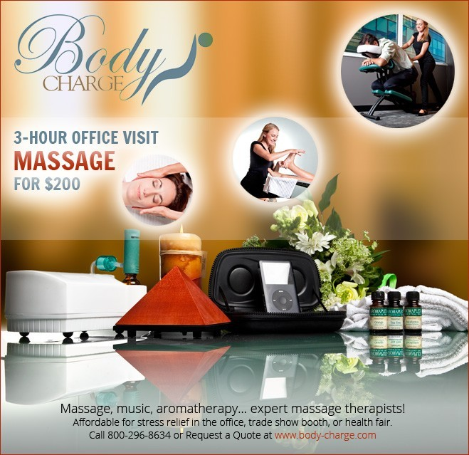 Nationwide Massage therapists provide expert chair massages