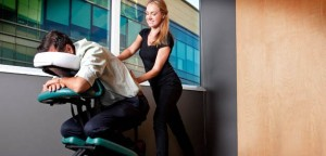 Relaxing Corporate Body Chair Massage