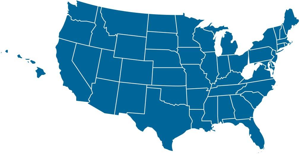 US Map with Hawaii, no alaska - Body Charge USA